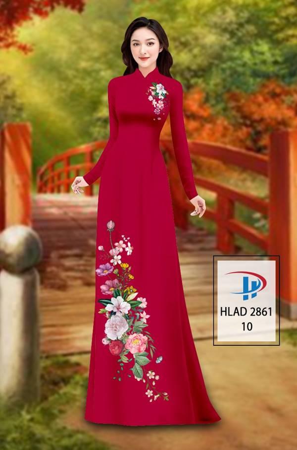 Vải Áo Dài Hoa In 3D AD HLAD 2861 4