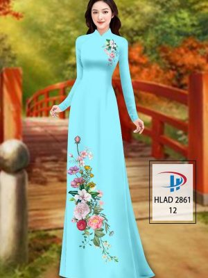 Vải Áo Dài Hoa In 3D AD HLAD 2861 30