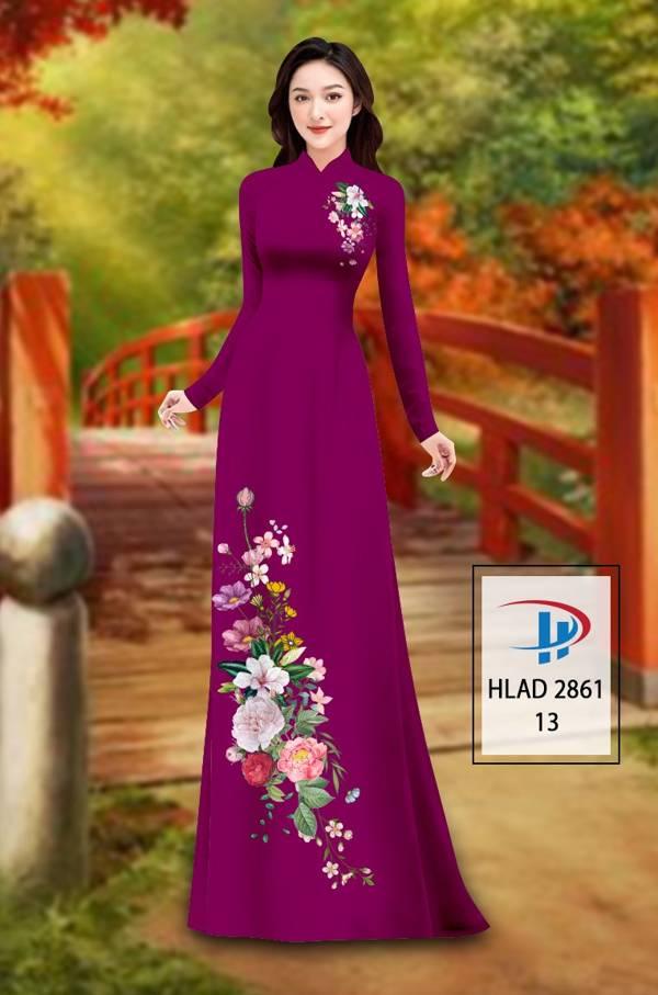 Vải Áo Dài Hoa In 3D AD HLAD 2861 7