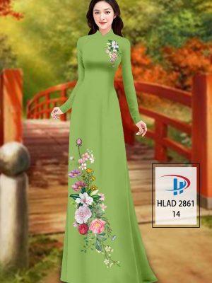 Vải Áo Dài Hoa In 3D AD HLAD 2861 32