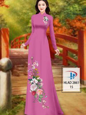 Vải Áo Dài Hoa In 3D AD HLAD 2861 33