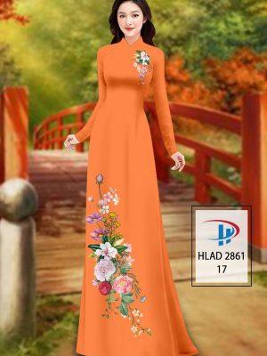 Vải Áo Dài Hoa In 3D AD HLAD 2861 35