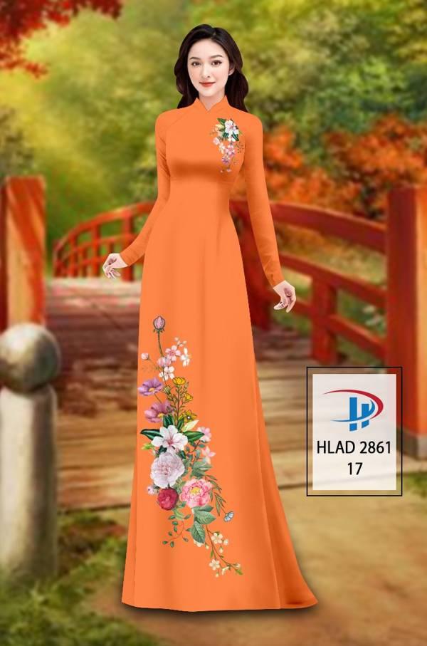 Vải Áo Dài Hoa In 3D AD HLAD 2861 11