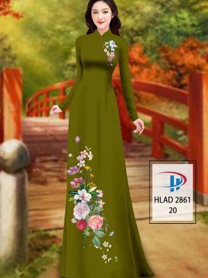 Vải Áo Dài Hoa In 3D AD HLAD 2861 38