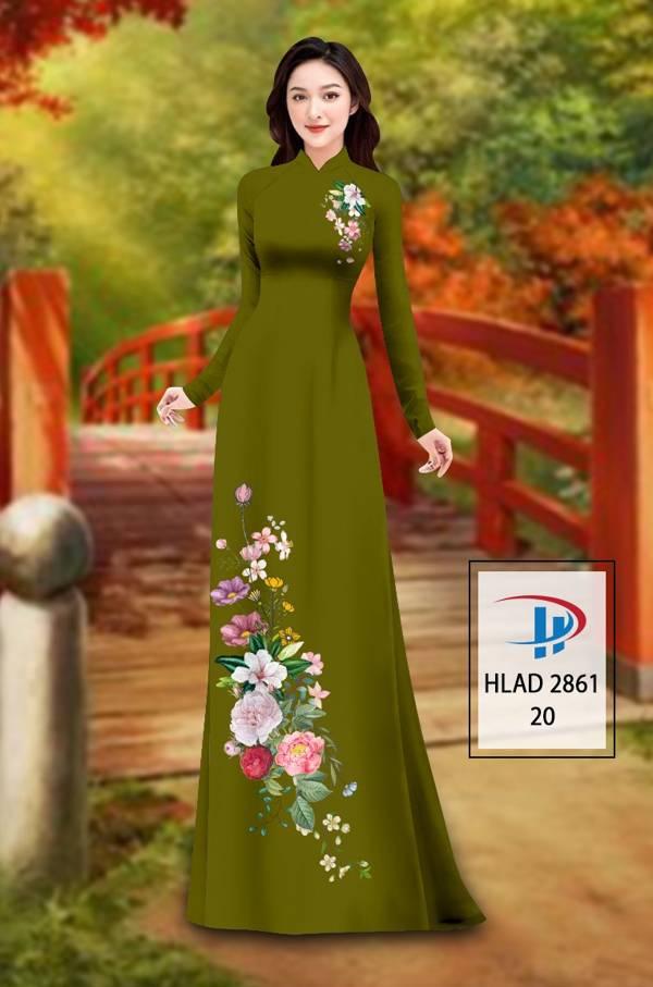 Vải Áo Dài Hoa In 3D AD HLAD 2861 14
