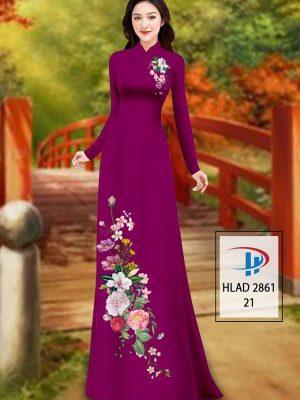 Vải Áo Dài Hoa In 3D AD HLAD 2861 39