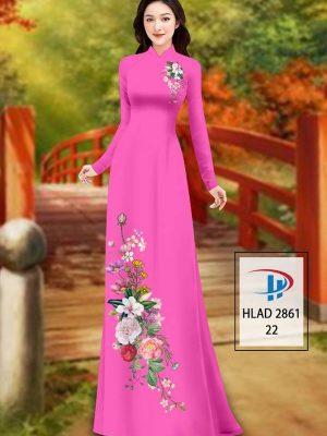 Vải Áo Dài Hoa In 3D AD HLAD 2861 40