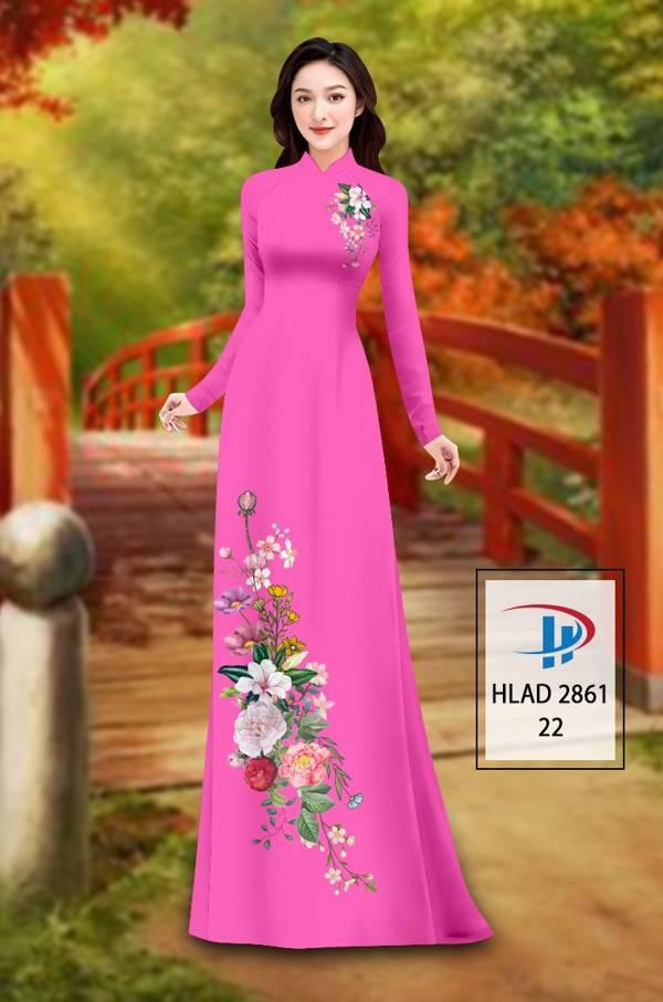 Vải Áo Dài Hoa In 3D AD HLAD 2861 16