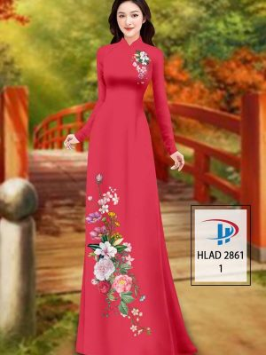 Vải Áo Dài Hoa In 3D AD HLAD 2861 44