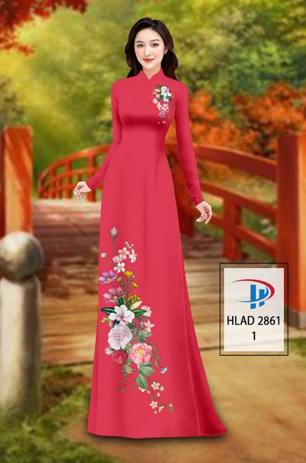 Vải Áo Dài Hoa In 3D AD HLAD 2861 20