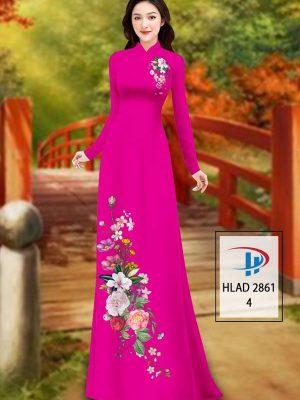 Vải Áo Dài Hoa In 3D AD HLAD 2861 47