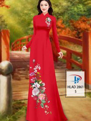 Vải Áo Dài Hoa In 3D AD HLAD 2861 48