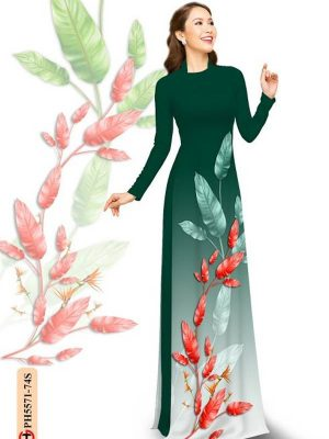 Vải Áo Dài In Hình Lá AD PH5571 15