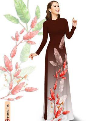 Vải Áo Dài In Hình Lá AD PH5571 21