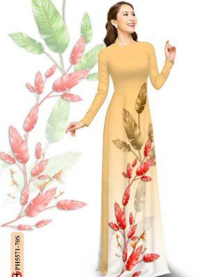 Vải Áo Dài In Hình Lá AD PH5571 23