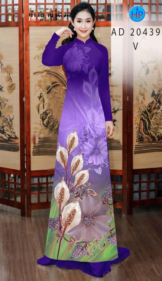 Vải Áo Dài Hoa Hồng Môn AD 20439 35