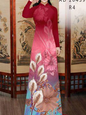 Vải Áo Dài Hoa Hồng Môn AD 20439 18