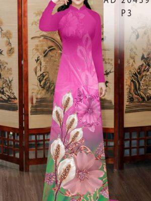 Vải Áo Dài Hoa Hồng Môn AD 20439 19