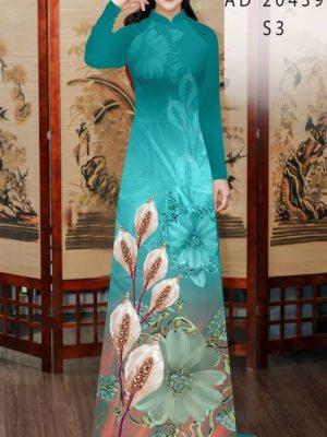 Vải Áo Dài Hoa Hồng Môn AD 20439 20