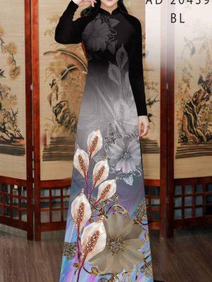 Vải Áo Dài Hoa Hồng Môn AD 20439 21