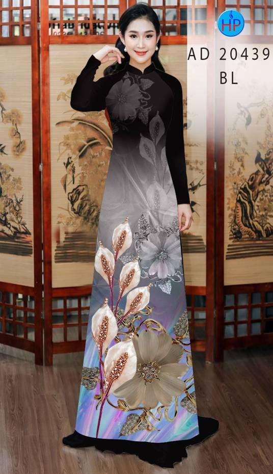 Vải Áo Dài Hoa Hồng Môn AD 20439 4