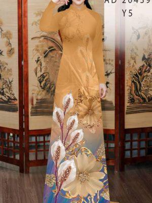 Vải Áo Dài Hoa Hồng Môn AD 20439 22