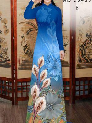Vải Áo Dài Hoa Hồng Môn AD 20439 23