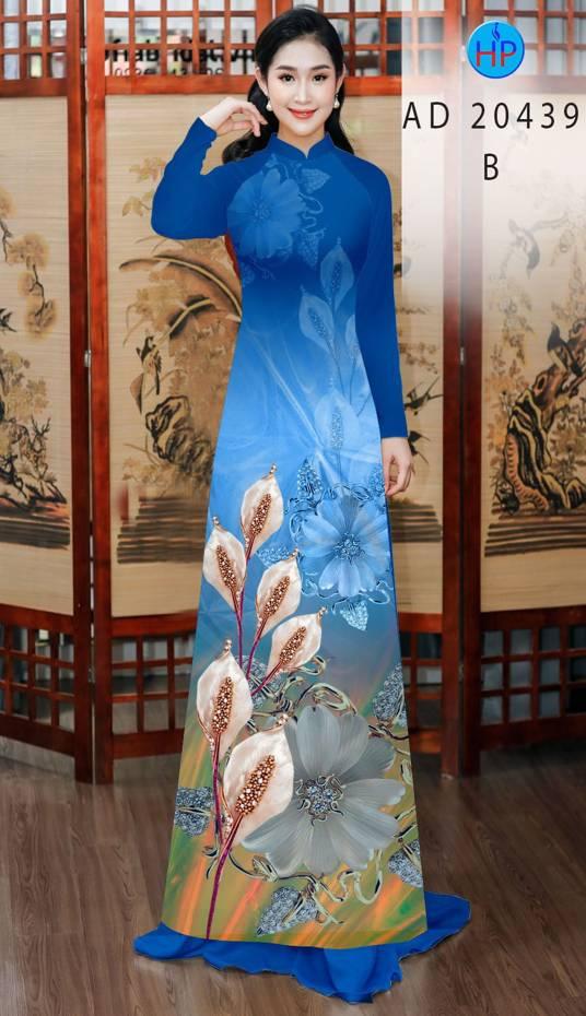 Vải Áo Dài Hoa Hồng Môn AD 20439 6