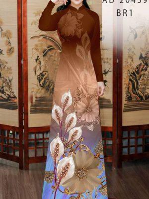 Vải Áo Dài Hoa Hồng Môn AD 20439 24