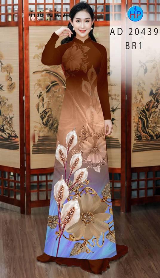 Vải Áo Dài Hoa Hồng Môn AD 20439 7