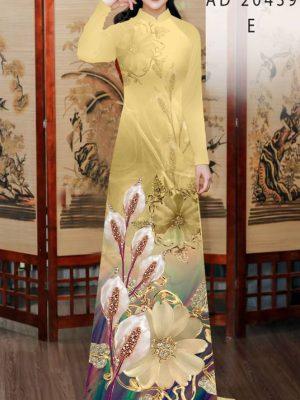 Vải Áo Dài Hoa Hồng Môn AD 20439 25