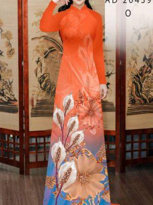 Vải Áo Dài Hoa Hồng Môn AD 20439 26