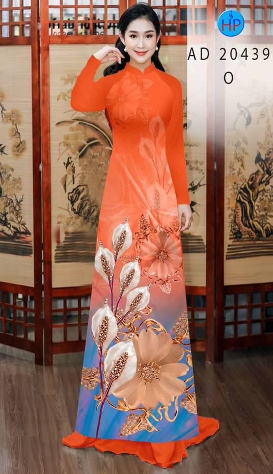 Vải Áo Dài Hoa Hồng Môn AD 20439 9