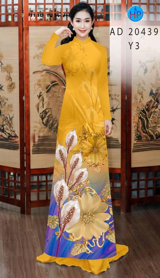 Vải Áo Dài Hoa Hồng Môn AD 20439 10