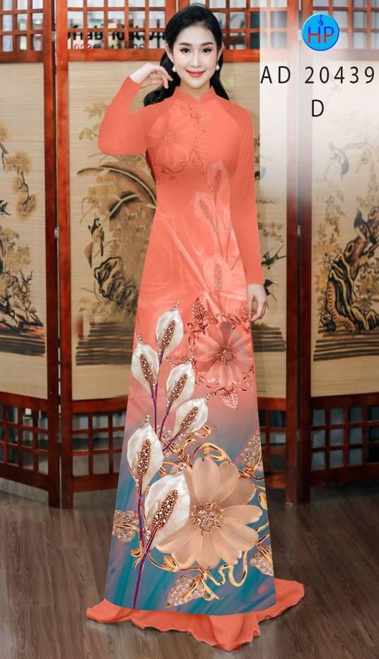Vải Áo Dài Hoa Hồng Môn AD 20439 11