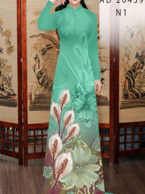 Vải Áo Dài Hoa Hồng Môn AD 20439 29