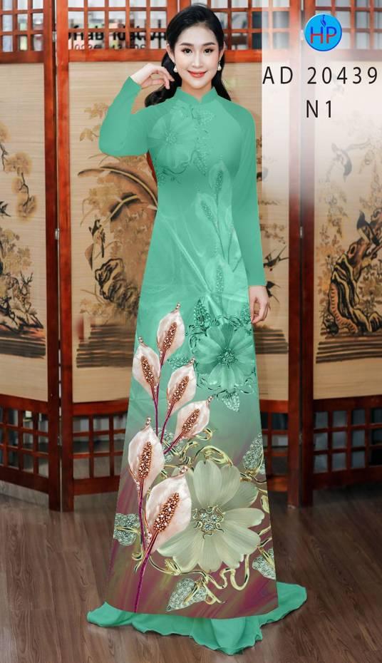 Vải Áo Dài Hoa Hồng Môn AD 20439 12