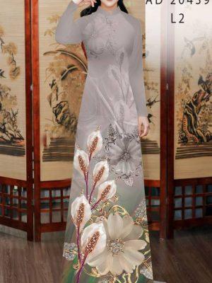 Vải Áo Dài Hoa Hồng Môn AD 20439 30
