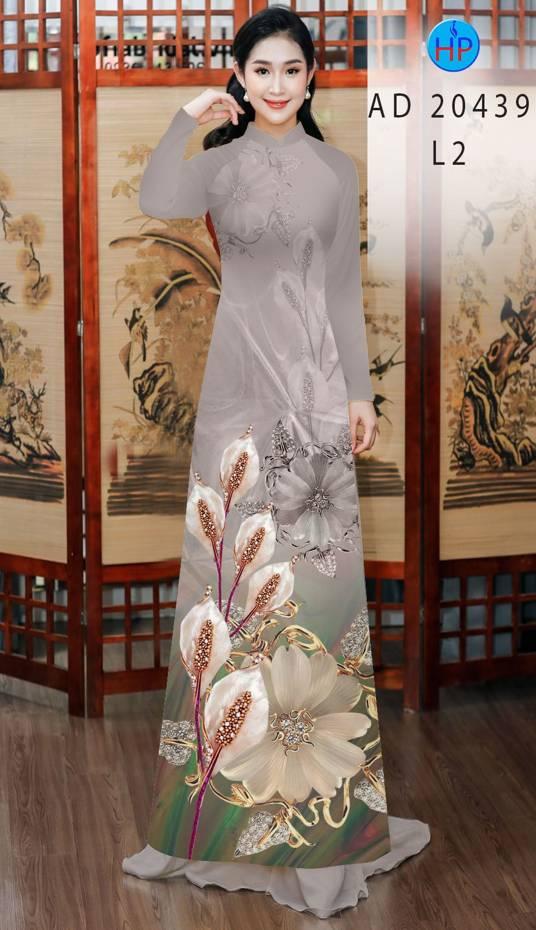 Vải Áo Dài Hoa Hồng Môn AD 20439 13