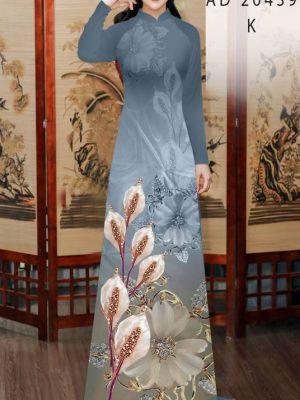Vải Áo Dài Hoa Hồng Môn AD 20439 31
