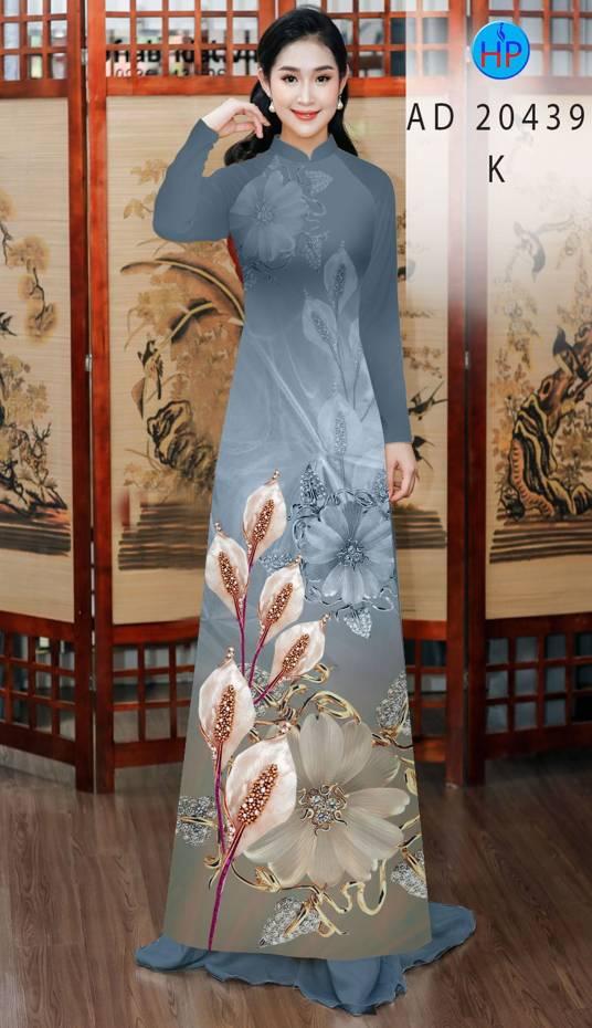 Vải Áo Dài Hoa Hồng Môn AD 20439 14