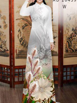 Vải Áo Dài Hoa Hồng Môn AD 20439 32