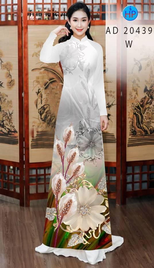 Vải Áo Dài Hoa Hồng Môn AD 20439 15