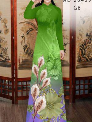 Vải Áo Dài Hoa Hồng Môn AD 20439 33