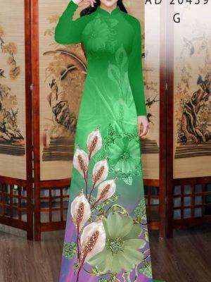 Vải Áo Dài Hoa Hồng Môn AD 20439 34