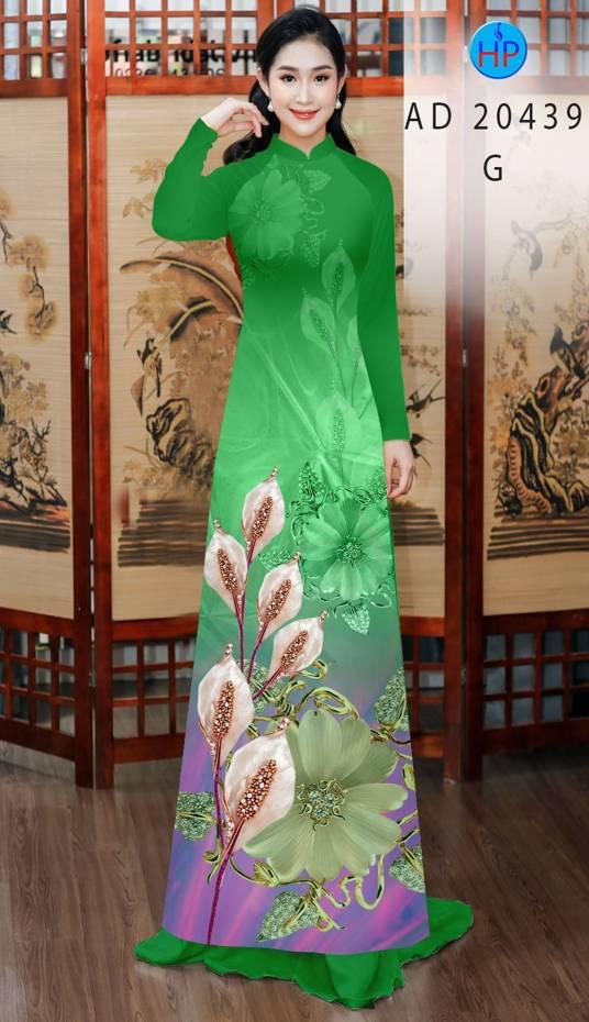 Vải Áo Dài Hoa Hồng Môn AD 20439 17
