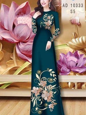 Vải Áo Dài Hoa In 3D AD 10333 23