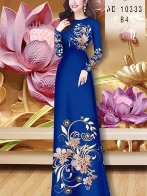 Vải Áo Dài Hoa In 3D AD 10333 31