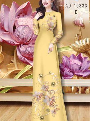 Vải Áo Dài Hoa In 3D AD 10333 33