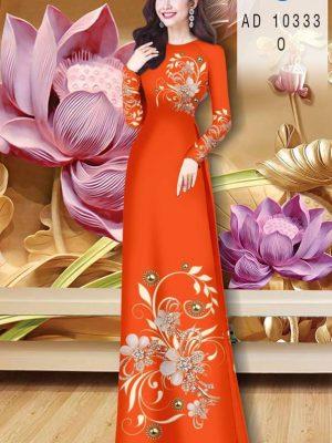 Vải Áo Dài Hoa In 3D AD 10333 37